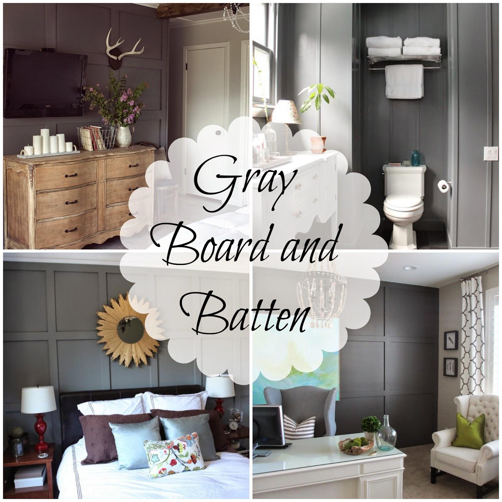 Gray Board And Batten