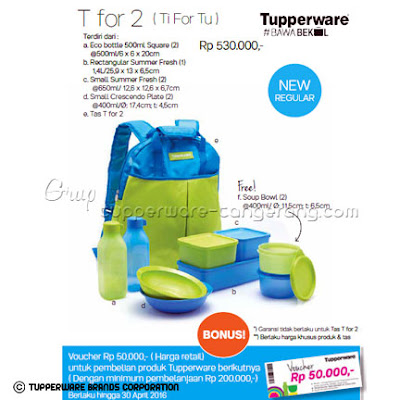 T for 2 (TiForTu) Promo Tupperware April 2016