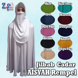 jilbab cadar aisyah rempel jumbo harga murah