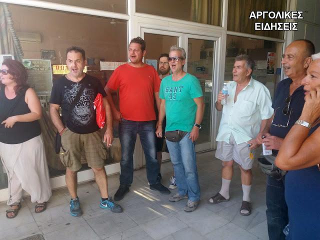 Επεισόδια και προσαγωγές στο Άργος με μέλη του κινήματος κατά των πλειστηριασμών (βίντεο)