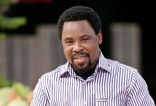 T.B Joshua donates N5 million to man whose wife was killed by police in Lagos