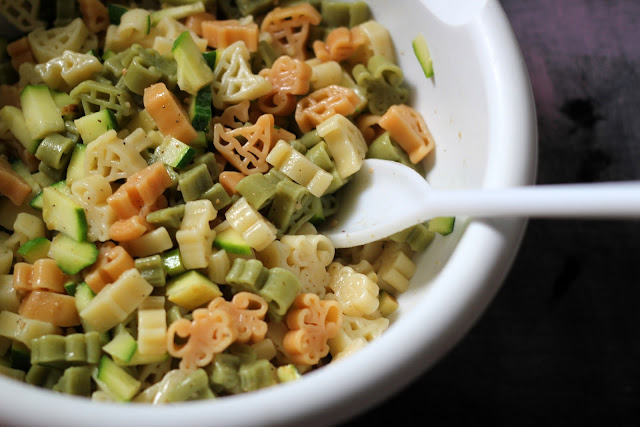 This tasty pasta salad has an Italian cheese flavor and yummy, fresh zucchini throughout!