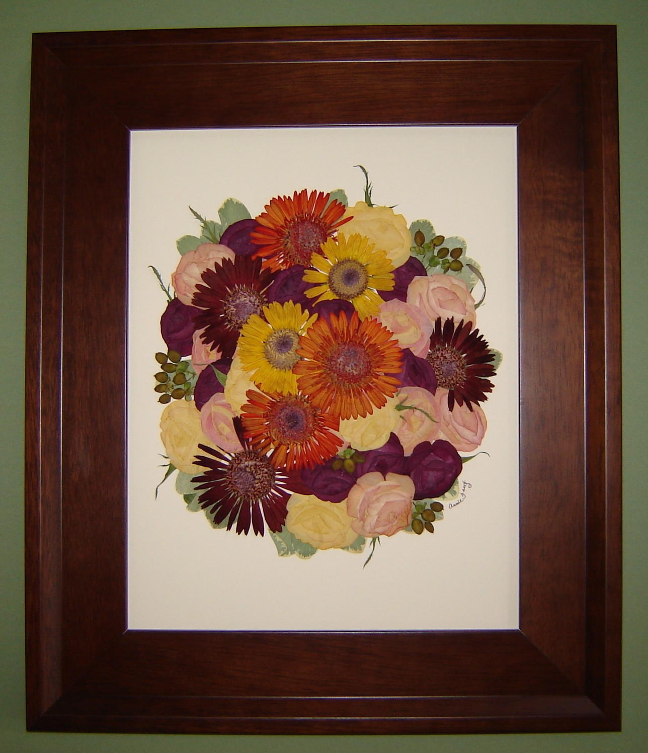 Pressed Wedding Flowers: Pressed Garden: Bridal Bouquet