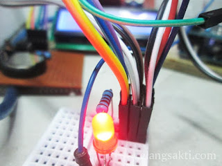 Gambar Modul LCD I2C dan RTC 1307 Diparalel