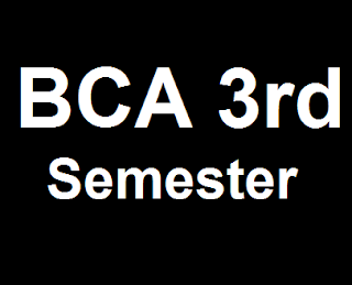 IGNOU BCA 3rd SEMESTER SOLVED ASSIGNMENTS FOR ALL SUBJECTS 2017-18 SESSION