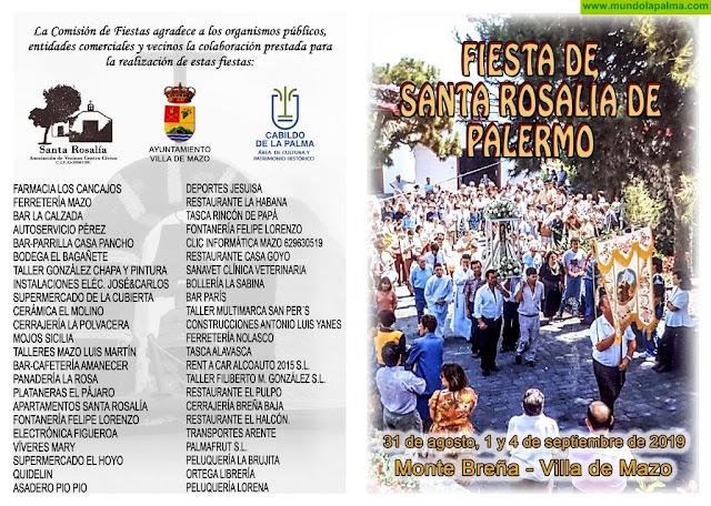 Festividad de Santa Rosalía de Palermo 2019