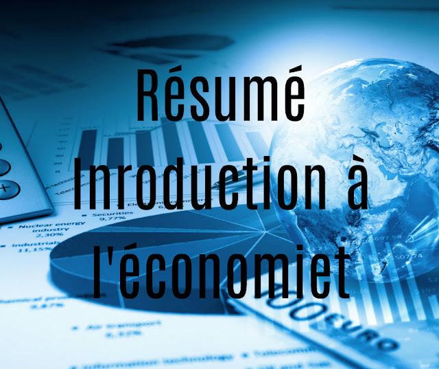 Téélécharger cours, exercices corrigés, examens corrigés et résumé d'Introduction à l'économie