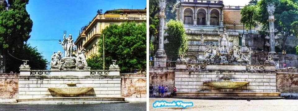 As praças de Roma