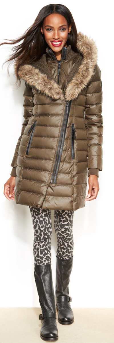 RUDSAK Faux-Fur-Trim Puffer Down Coat