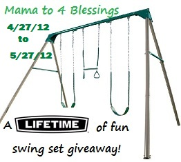 Lifetime 10 Foot Swing Set Review Giveaway Mama To 6 Blessings