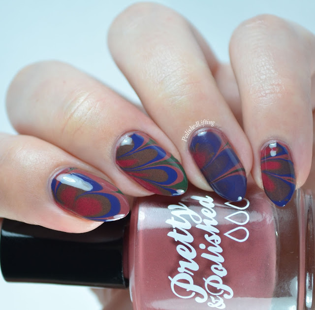 Pretty & Polished Dusty Cremes Watermarble