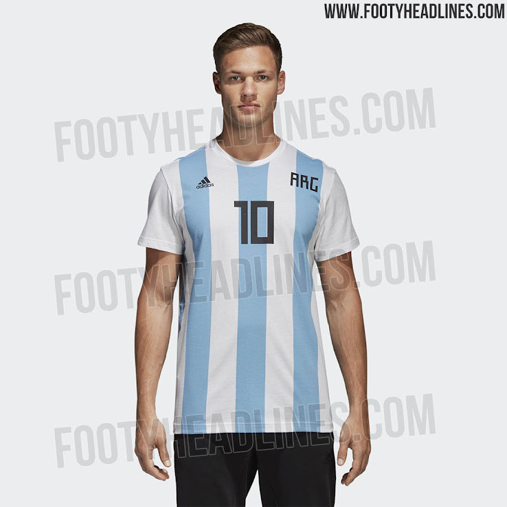 quality design 30130 dc860 Special Adidas Argentina Messi 2018 World Cup Shirt Leaked ...