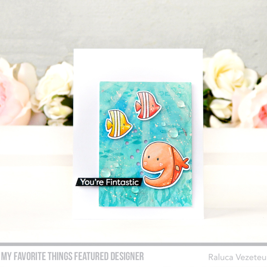Handmade card by Raluca Vezeteu featuring products from My Favorite Things. #mftstamps