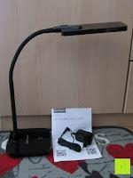 Erfahrungsbericht: DBPOWER® Oberfl chenlichtquelle, Dimmbar, Augenschutz, LED-Schreibtischlampe (6W, 800LUX, 3-Level-Dimmer, Flexible Arm, schwarz)
