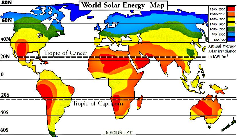 world solar map