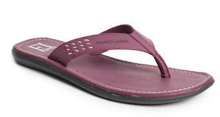 Franco Leone Purple Textured Slippers