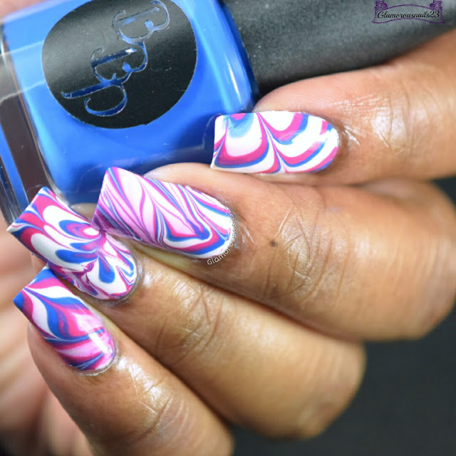 Watermarble Wedenesdays: White, Blue & Pink
