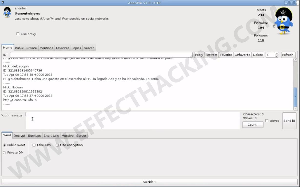 AnonTwi v1.0 GTK