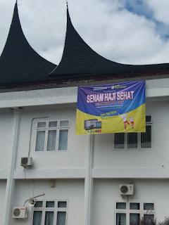 Senam Haji Sehat dan Edukasi Kesehatan kpd Jamaah Haji Kab. Dhamasraya bersama GEMAHATI & SUSU HAJI SEHAT, Sumatera Barat 16 Juli 2017