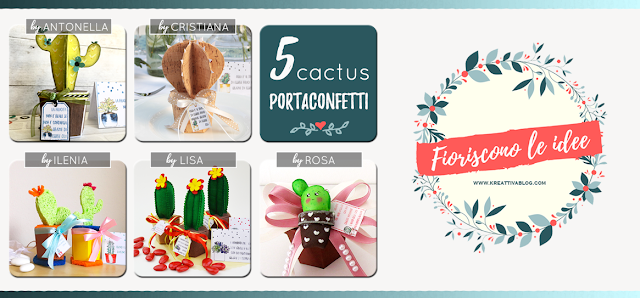 5 Cactus portaconfetti fai da te