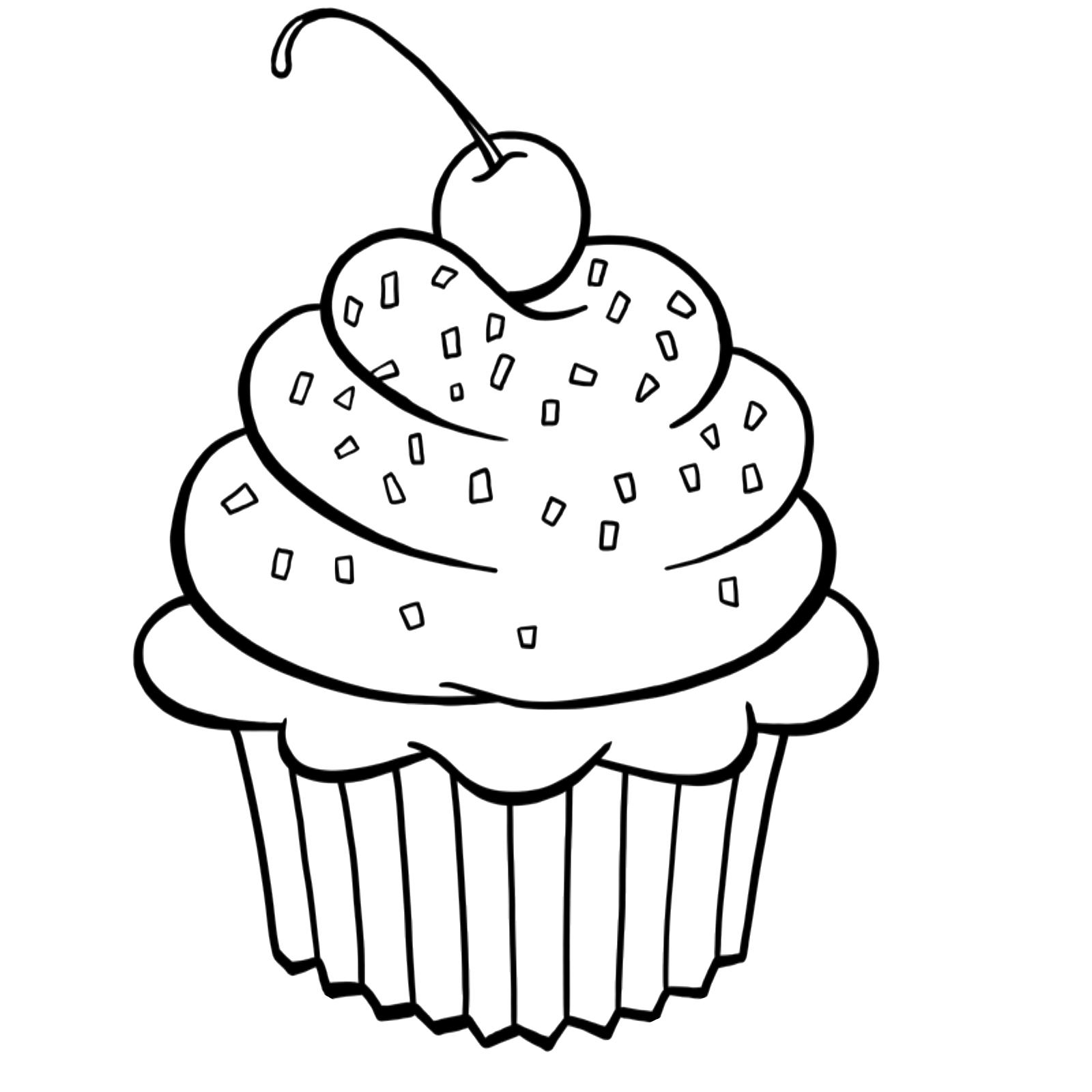 Cupcakes Para Colorir