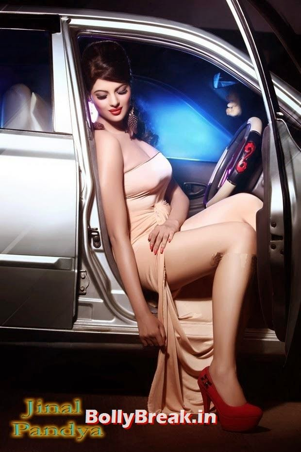 , Jinal Pandya Hot Hd Pics in Car