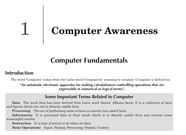 Computer Fundamentals Notes for Competitive Exams PDF Download