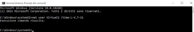 Net User <account_utente> /time:<Intervallo-giorni>,<intervallo-ore>