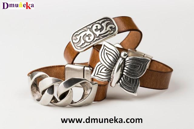 pulseras de cuero y zamak, pulseras, complementos, accesorios, moda, fashion, alta bisutería, joyería en Valencia, moda valenciana,