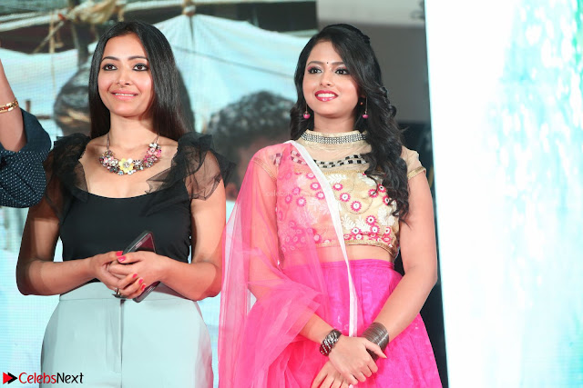 Geethanjali and Swetha Basu at Mixture Potlam Movie Audio Launch Feb 2017 002.JPG