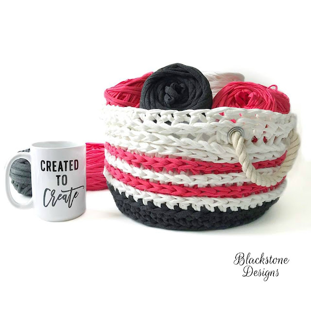 Crochet Basket free crochet pattern Nautical Basket home decor