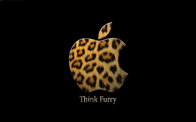 Apple logo met tijgerprint
