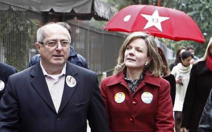O ex-ministro da Dilma, Paulo Bernardo, e sua esposa, a senadora Gleisi Hoffmann, são investigados pela operação Custo Brasil no desvio de mais de R$ 100 milhões do dinheiro dos aposentados. Crédito: Blog do Álvaro Neves