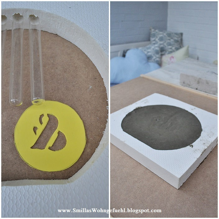 diy beton vase mal anders smillas wohngef hl. Black Bedroom Furniture Sets. Home Design Ideas
