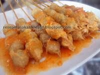 Resep Cilok Goreng Telur, Cilor Tusuk Saus Lemon Pedas