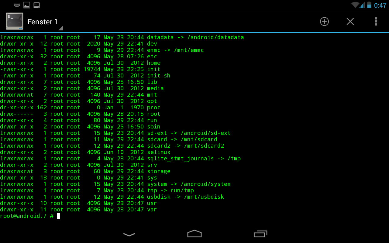 Project21z Images: Nexus 7 with nice Terminaemulation (Android