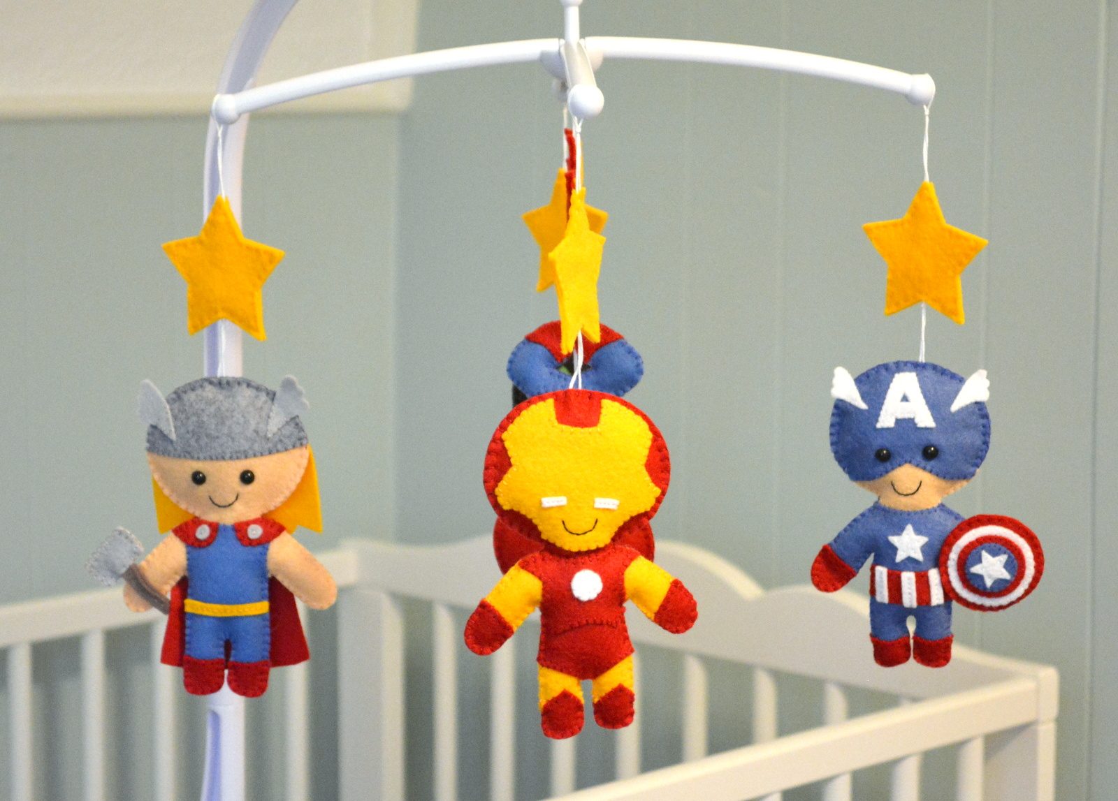 cozy birdhouse | avengers crib mobile