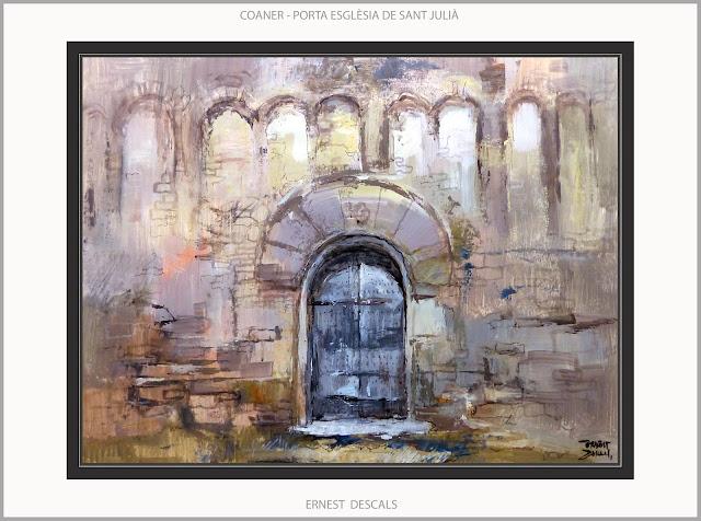 COANER-PINTURA-ESGLE´SIA-SANT JULIÁ-ART-ROMÁNIC-PAISATGES-SANT MATEU DE BAGES-CATALUNYA-QUADRES-PINTOR-ERNEST DESCALS-