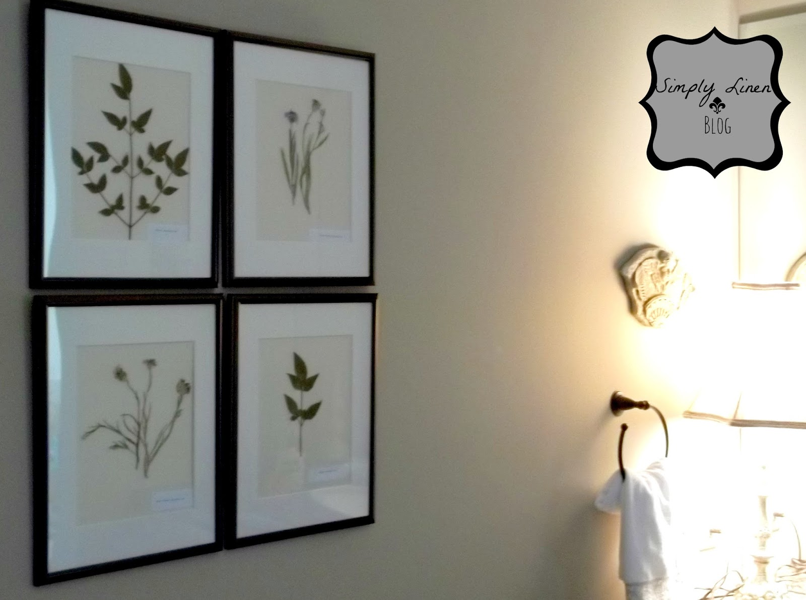 Simplylinen Pressed Flower Artwork