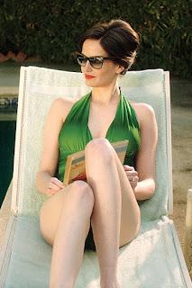 Eva Green In Green Swim Suit