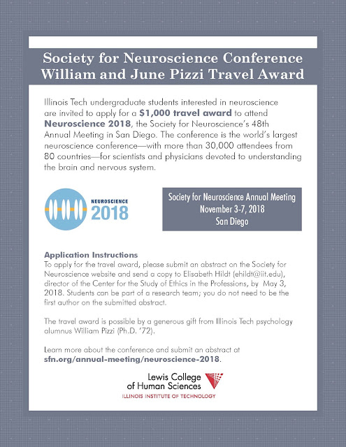 Apply for the Society for Neuoscience Conference William and June Pizzi Travel Award