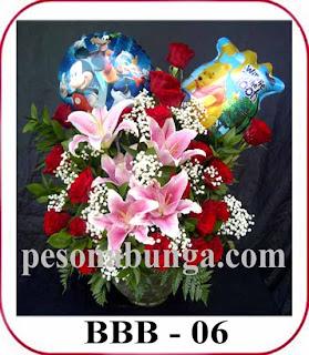 bunga untuk menyambut kelahiran bayi