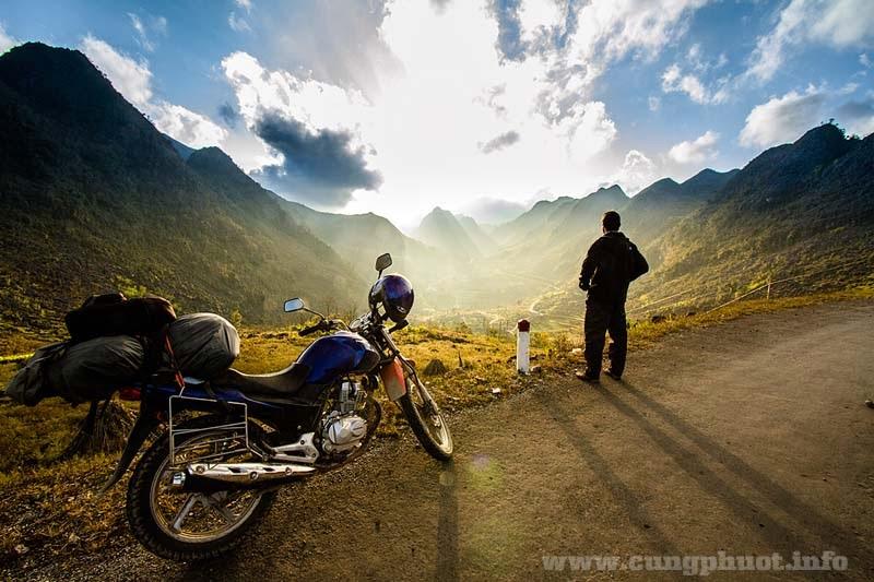 Kinh nghiệm đi xe máy trên đường phượt