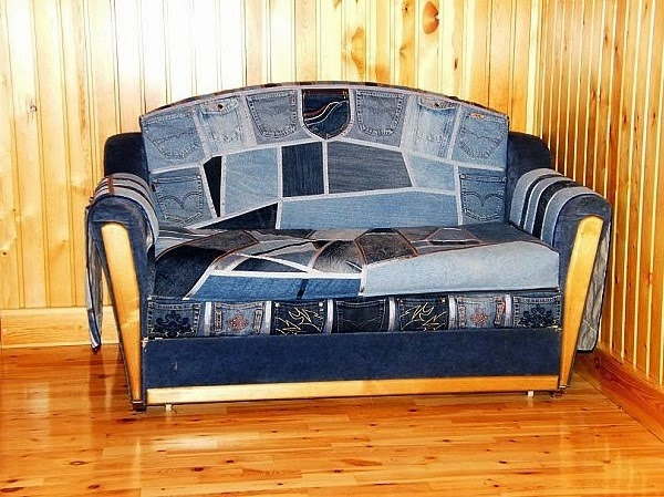 DIY AND CRAFT MIRACLES : DIY JEANS FURNITURE