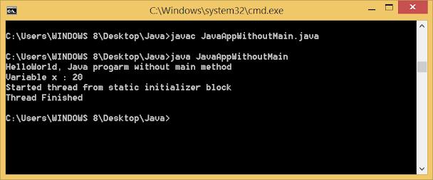 Java program without main method