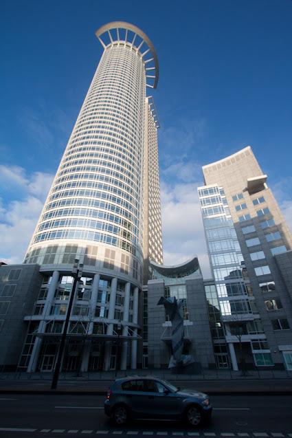 Grattacieli del quartiere finanziario-Francoforte