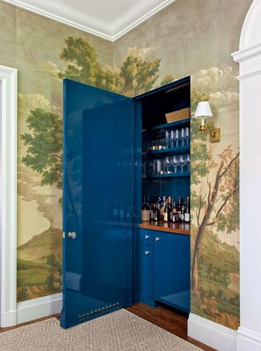 home bar in closet