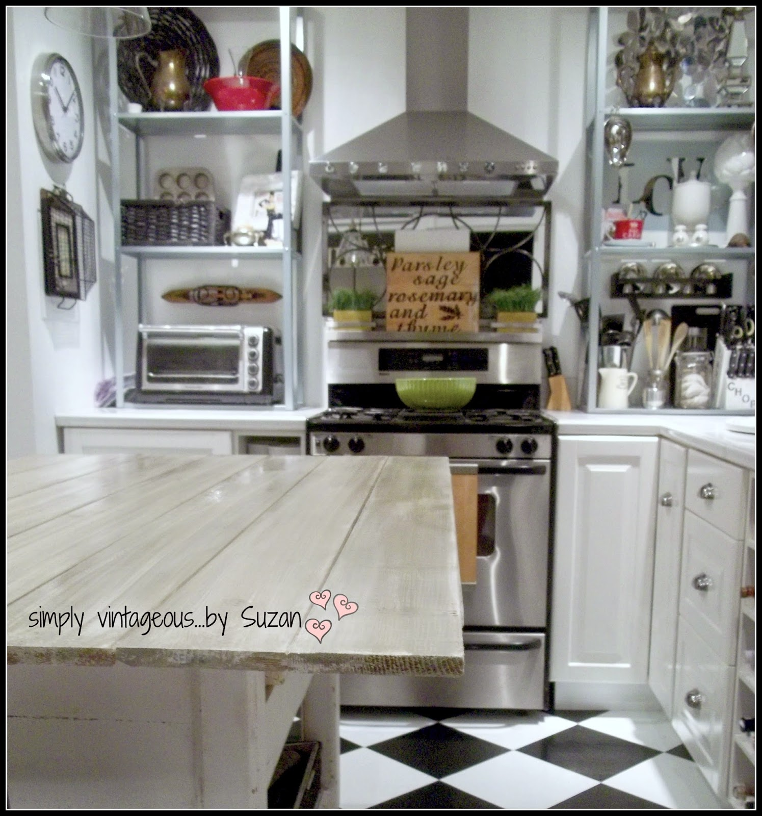 simply vintageous by suzan adding planks to a kitchen table  diy wood plank kitchen table