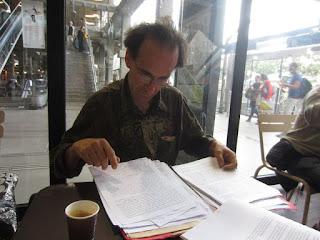 Séance de travail avec Alain Fonteneau à la gare Montparnasse