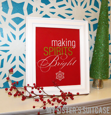 How to make this super cute Snowflake Mantel!! Requires just a few supplies!!